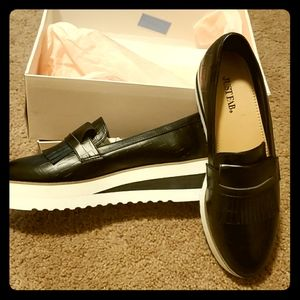 Justfab Platform Loafers.